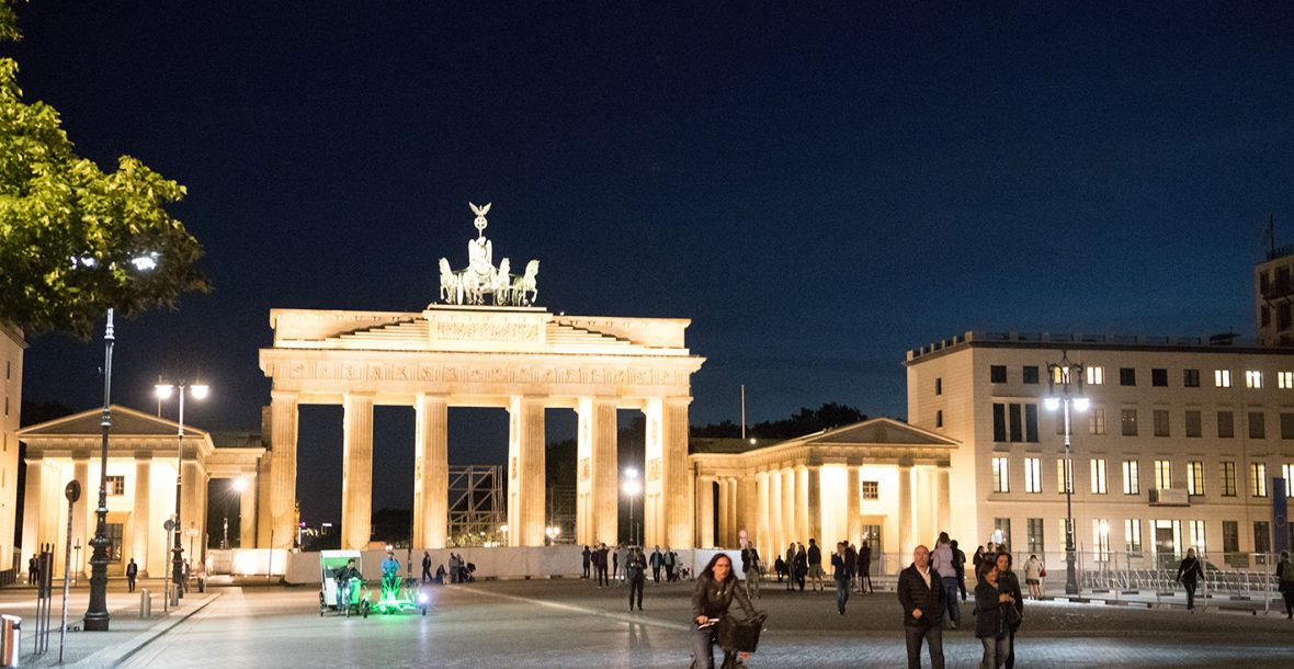 The Brandenburg Gate, by night