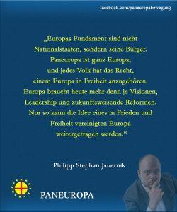 Philipp Jauernik ist Bundesvorsitzender der Paneuropa-Jugend Österreich.