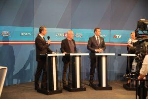 Kern, Pilz, Strache: Drei ungleiche Kontrahenten. Bleiben sie das? Von SPÖ Presse und Kommunikation - CC BY-SA 2.0, https://commons.wikimedia.org/w/index.php?curid=63411766